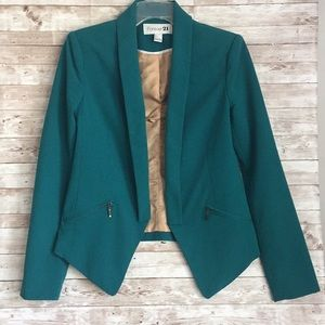 Forever 21 Women's Green Blazer Size Small